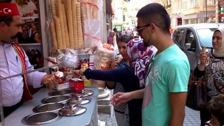 Турецкий мороженщик