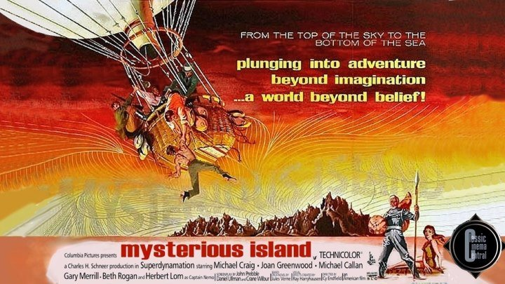 Mysterious Island (1961) Michael Craig, Joan Greenwood, Michael Callan
