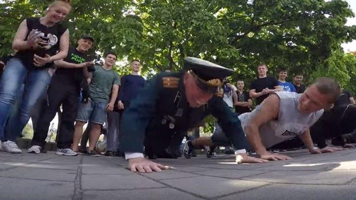 Ветеран порвал молодёжь 9 мая в Днепропетровске