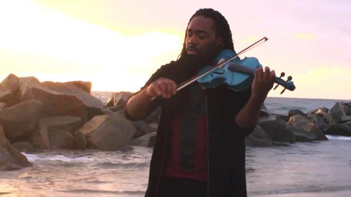 Талантливый скрипач и прекрасная природа!