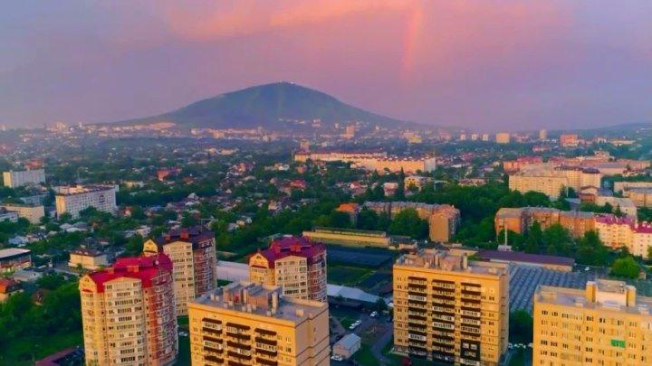 Дождливый красочный закат над Пятигорском. Россия ✔ Видео Григорий Колодяжный