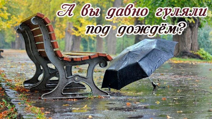 """Вальс """"дождя"""".. А вы давно гуляли под дождём?"""