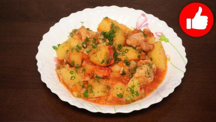 Жаркое из курицы с картошкой в мультиварке, рецепт вкусного жаркого. рецепты для мультиварки, мультиварка