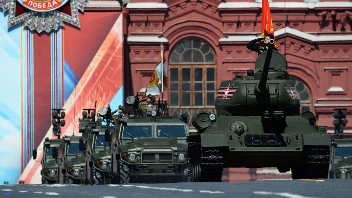Москва. Парад Победы на Красной площади 9 мая 2018. HD