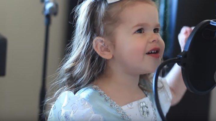 Пение 3-х летней девочки завораживает своей непосредственностью!