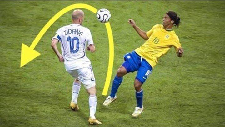 Только РОНАЛЬДИНЬО мог делать ЭТО! Топ 10 навыков_финтов в футболе
