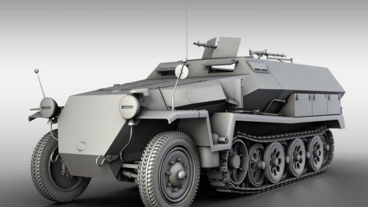 Немецкий полугусеничный бронетранспортер SdKfz 251 «Ханомаг»