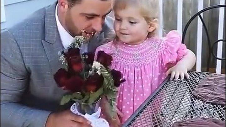 Удивительный отец! Первое свидание для дочери!