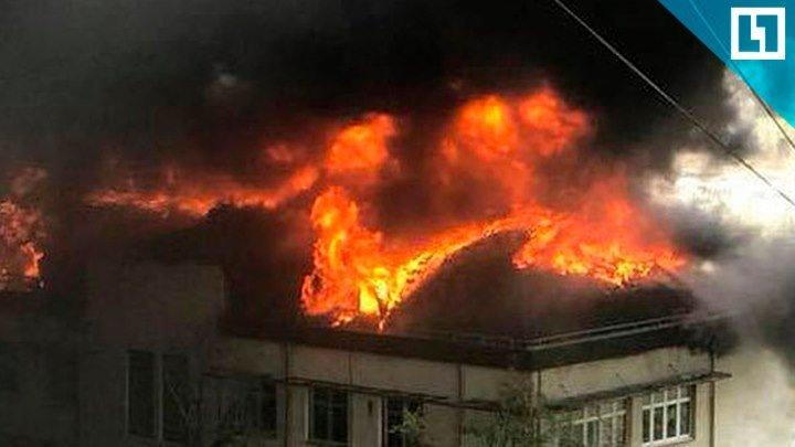Сильный пожар в Кишенёве