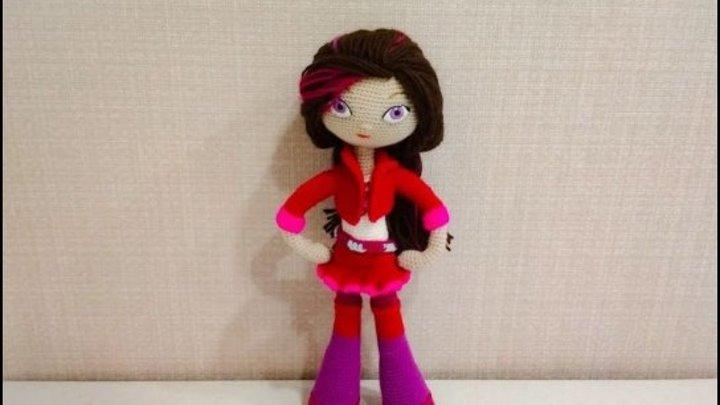 Игрушка амигуруми. Кукла Варя. Мастер-класс крючком. (Сrochet doll)