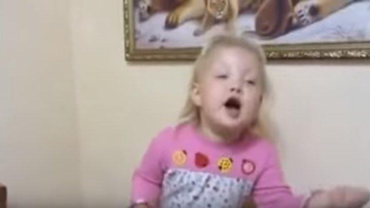 Малышка рассказывает стих про бабушку. Мегапозитив!!!