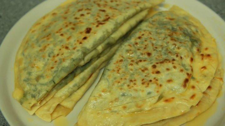 Кутабы с зеленью. Съедаются мгновенно. (Азербайджанская Кухня)