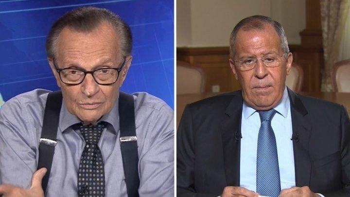 О цензуре в отношении RT, «Северном потоке — 2» и «российском вмешательстве»: Лавров дал интервью Ларри Кингу