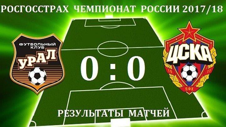 Урал - ЦСКА Обзор Матча 19.08.2017 [HD]