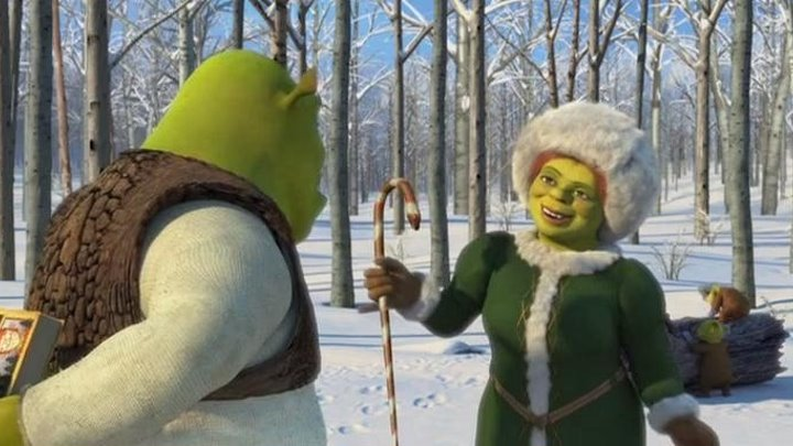 Шрек мороз, зелёный нос (2007 HD) Фэнтези, Комедия, Приключения, Мультфильм