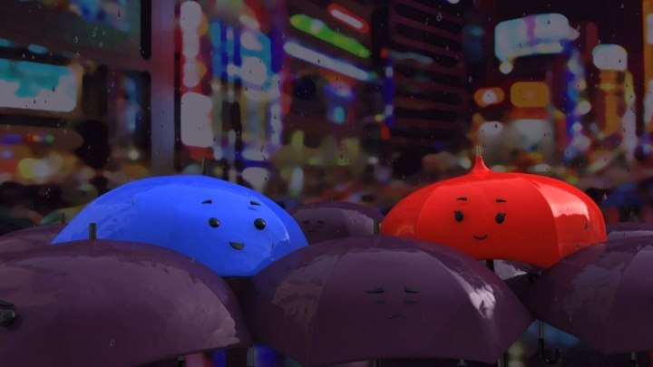 ★ Синий зонтик _ The Blue Umbrella (2013)
