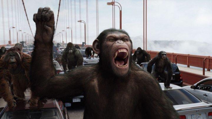 Восстание планеты обезьян. Фантастика, Боевик,