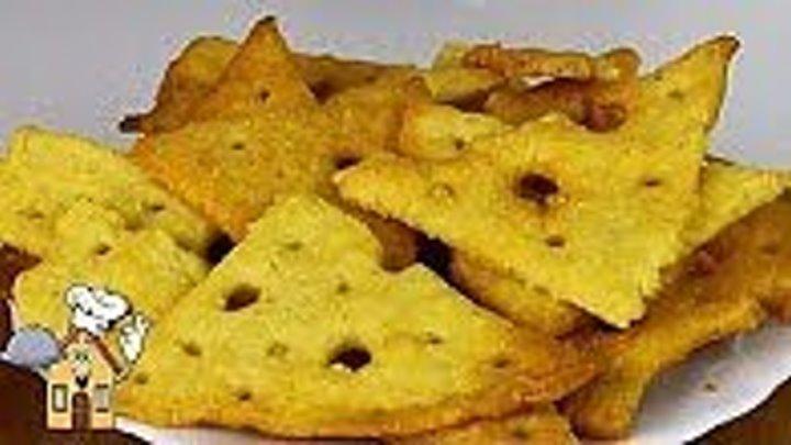 Делайте 2 порции - Уйдут в ОДИН миг! Вкусные сырные крекеры
