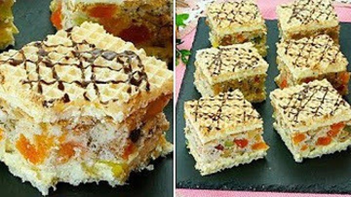 """Дополнит ваш список любимых десертов - пирожное """"Мозаика"""" с орехами и рахат"""