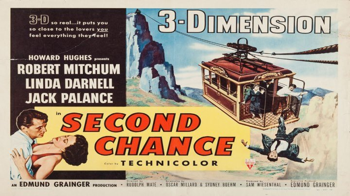 Howard Hughes' Second Chance 3D ✌️😓starring Robert Mitchum & Linda Darnell! with Jack Palance!