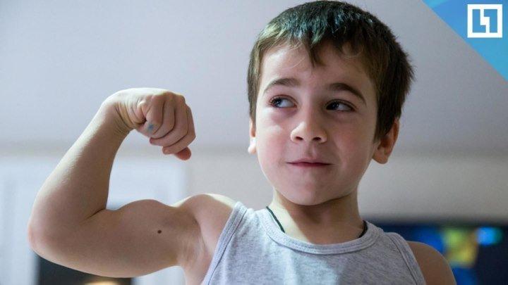 Малыш-силач из Чечни