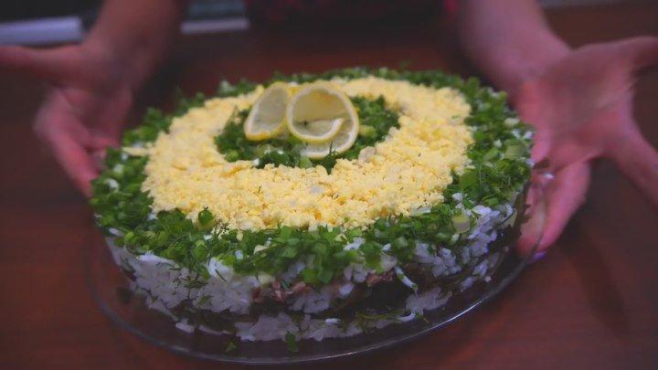 Быстрый салат на праздник! Просто и вкусно на стол от ДОБРОФЛОТА