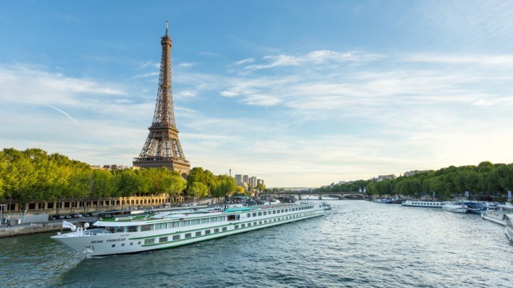 Прогулка по реке Сена (Париж, Франция)