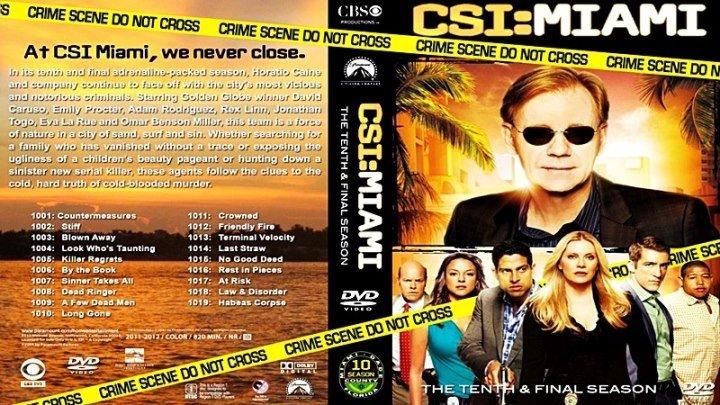 Место преступления. Майами [225 «Огонь по своим»] (2012) - криминальный, триллер, драма, детектив