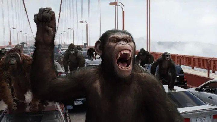 """Фильм """"Восстание планеты обезьян """"Боевики, Драмы, Фантастика, Триллеры 2011"""