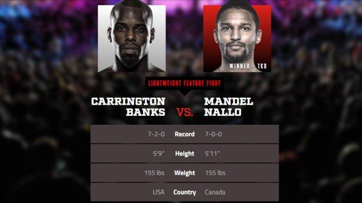 Кэррингтон Бэнкс vs. Мэндел Нэлло.Bellator 207
