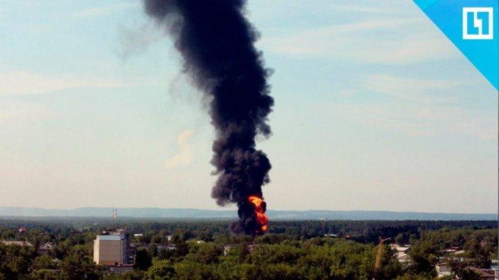 В Перми горит завод «Нефтехимик»