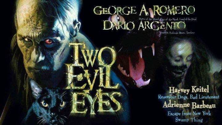 Два злобных глаза (1990) (BDRip-720p) AVO (Андрей Гаврилов) Ужасы, хоррор, фэнтези, триллер, детектив Харви Кейтель, Эдриенн Барбо, Рами Зэда, Бинго О'Мэлли, Джефф Хауэлл, Э. Г. Маршалл, Мэдлин Поттер