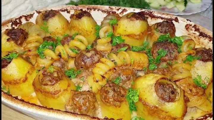 Потрясающее ГОРЯЧЕЕ БЛЮДО из Простых продуктов. Лучшая Фаршированная Картошка...