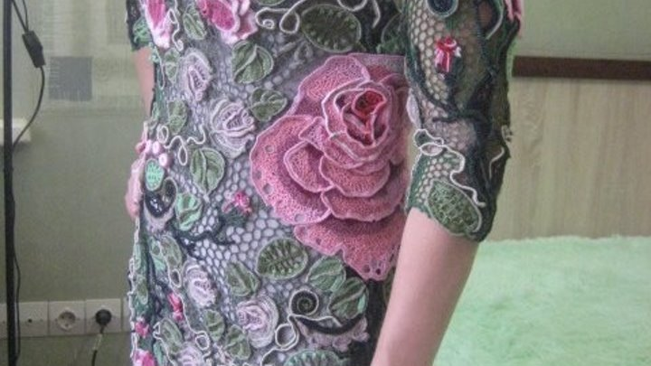 Платье Эдем, связано по МК Аси Вертен
