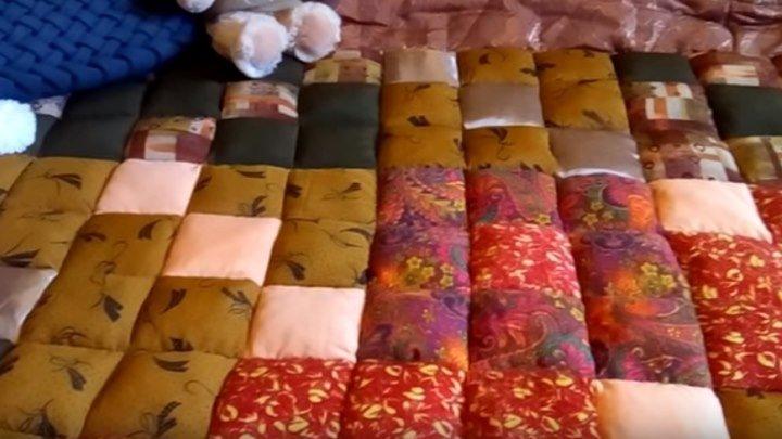 Шьем одеяло из остатков ткани!