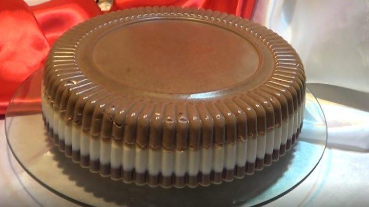 """Торт """"Птичье молоко"""" без выпечки. Желейный торт."""