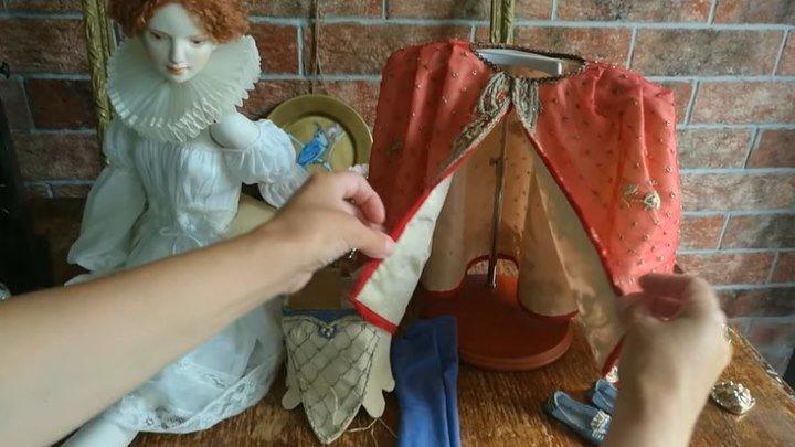 Процесс создания авторской куклы из фарфора