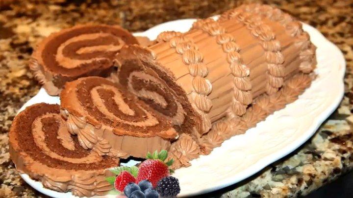 Швейцарский Шоколадный Рулет🍰👍 Самый лучший рецепт! Заменит любой торт!