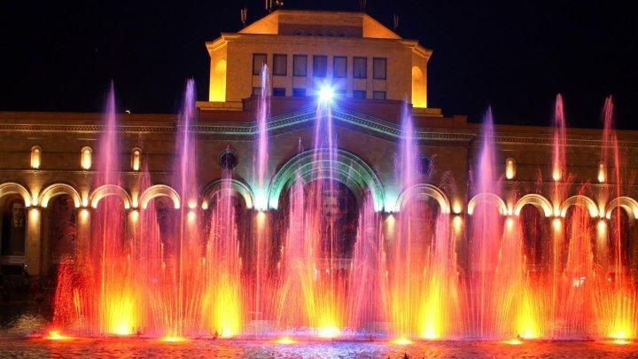 Поющие фонтаны. Вечерний Ереван