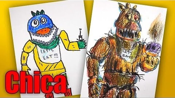 Рисуем Chica из Five Nights at Freddy's