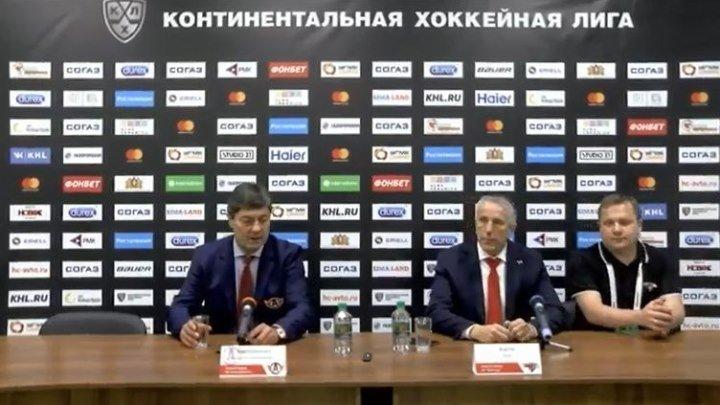 26 декабря 2018. «Автомобилист» - «Авангард» 3 - 2. Послематчевая пресс-конференция.