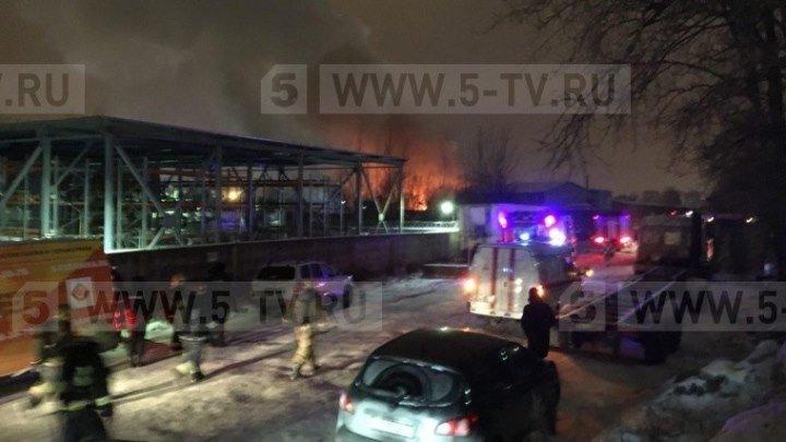Пожар на складе пиротехники в Петербурге