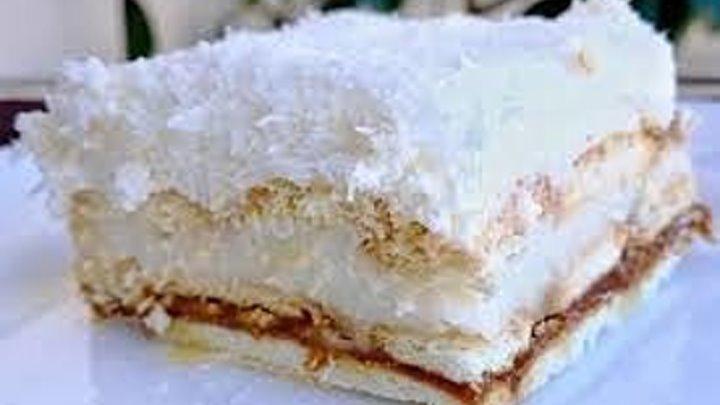 """Торт за 5 МИНУТ """"Рафаэлло"""" БЕЗ ВЫПЕЧКИ"""