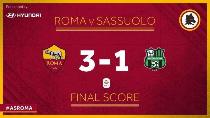 📹Roma 3-1 Sassuolo | Perotti, Schick & Zaniolo Netted To Guide Roma To 3-1 Win | Serie A