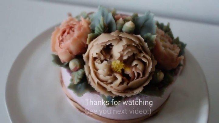 Украшение торта розой премиум класса - Менсфилд Парк