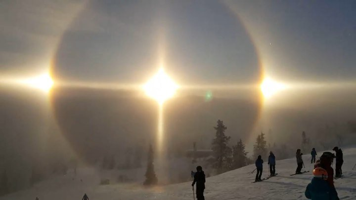 Гало-эффект, падающие светильники-звёзды, ледяной барьер. Купол над Землёй - КАРАНТИН