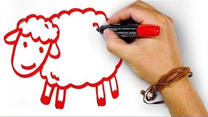Красная Овечка, рисуем маркером