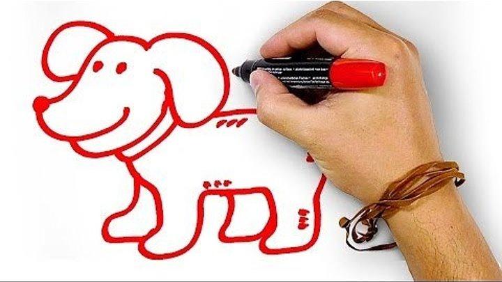 Красная Собака, рисуем маркером, РыбаКит