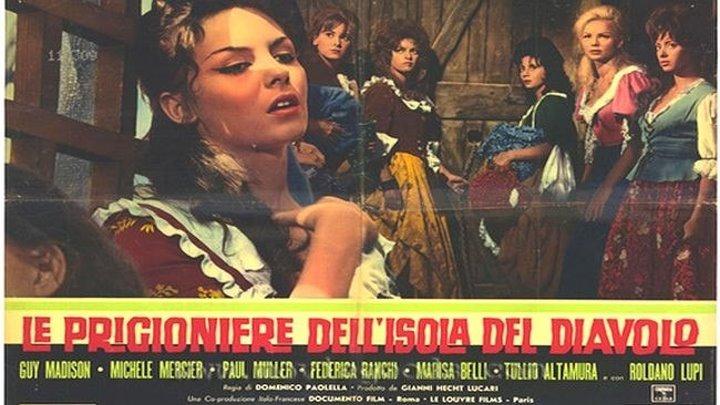 Узницы Острова дьявола (Доменико Паолелла) [1962, Италия, Франция, боевик, драма, приключения]