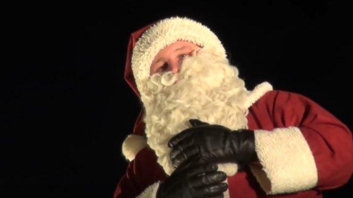 Летающий Санта-Клаус в Гамбурге)